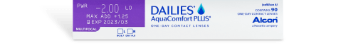 DAILIES AquaComfort Plus Multifocal 90pk