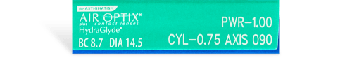 AIR OPTIX® plus HydraGlyde® for ASTIGMATISM